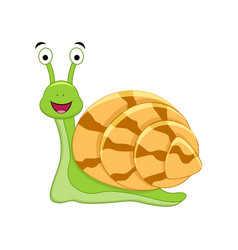 cute cartoon snail vector image
