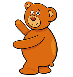 cute teddy bear cartoon character vector image