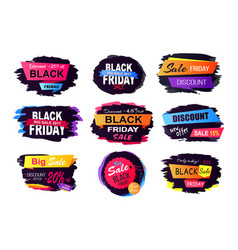 Discount -25 off black friday vector