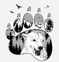 Double exposure for your design wildlife concept vector