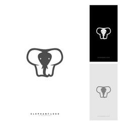 elephant logo design template vector image