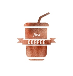 Fast coffee logo vector