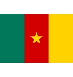 Flag of Cameroon in correct proportions and colors vector