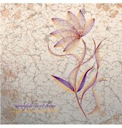 Flower on grange background vector image