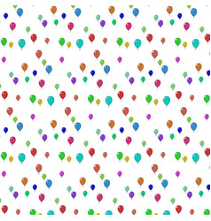 flying balloons of different colorson a white vector image