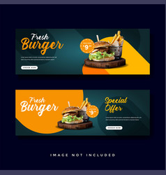 Food and culinary banner promotion collection vector