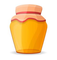 fresh honey jar icon cartoon style vector image