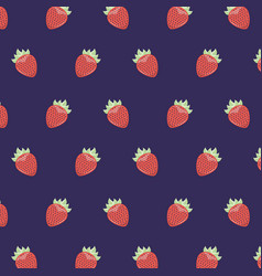 fruit tasty food strawberry seamless pattern vector image