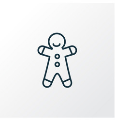 Gingerbread man icon line symbol premium quality vector