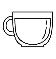 glass coffee cup icon outline style vector image