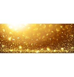 Gold Background with stars vector image