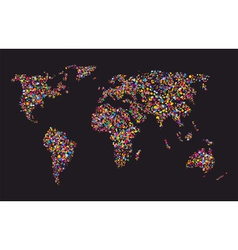 Grunge colourful collage of world map vector