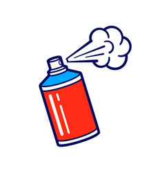 icon spray paint can vector image
