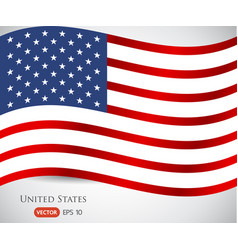 image of american flag usa united states symbol vector image