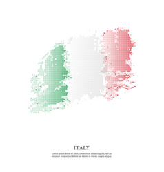 italy flag with halftone effect vector image