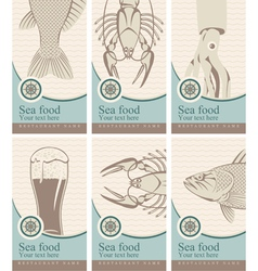 marine cards vector image