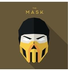 Mask hero into flat style graphics art vector