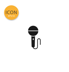 microphone icon isolated flat style vector image