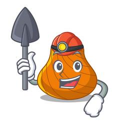 miner hard shell mascot cartoon vector image