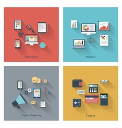 Modern concepts collection in flat design vector image vector image