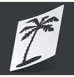 Monochrome vacation sticker vector image