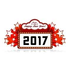 New Year marquee 2017 vector image