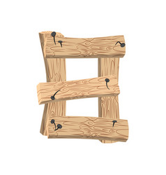number 8 wood board font eight symbol plank and vector image