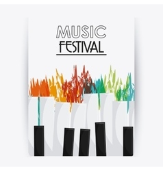 Piano music sound media festival icon vector