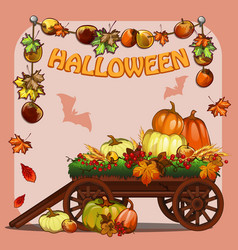 Poster on theme of halloween holiday party or vector