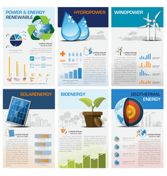 Power and energy renewable chart diagram vector