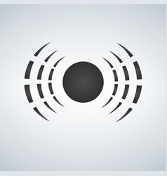 Radio waves logo icon antenna vector