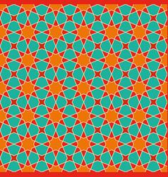 Seamless arabic geometric ornament in colorarabic vector