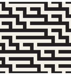 Seamless Black and White Geometric Maze vector image