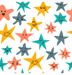 Seamless pattern with cute little stars vector image