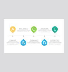 set green and turquoise blue orange elements vector image