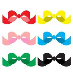 Set of colored bows vector image