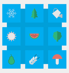 Set of simple horticulture vector