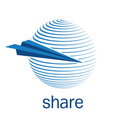 share icon vector image