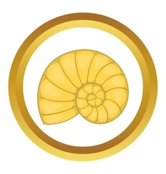 Shell icon vector image