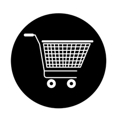 shopping cart isolated icon design vector image