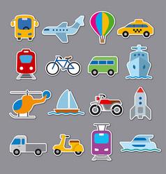 Stickers transport vector