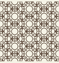 stylish abstract seamless black and white pattern vector image