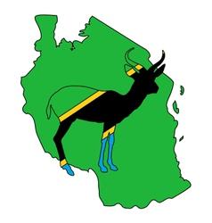 Tanzania antelope vector