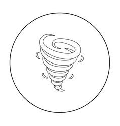 tornado icon in outline style isolated on white vector image