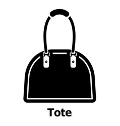 Tote bag icon simple black style vector