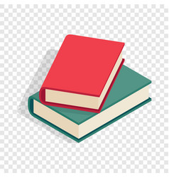 two books isometric icon vector image
