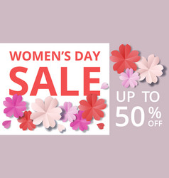 womens day origami vector image