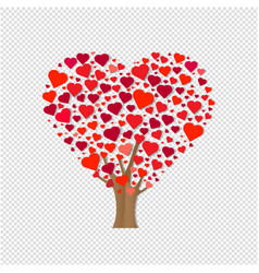 wooden with hearts transparent background vector image