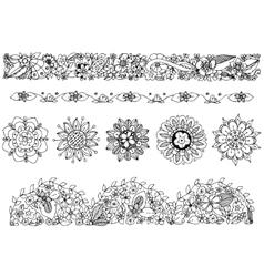 zentangl drawing ornament vector image