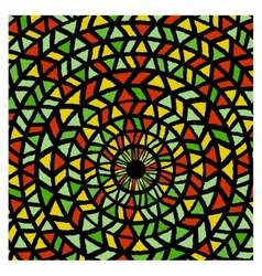 Ethnic traditional colorful bright round pattern vector image